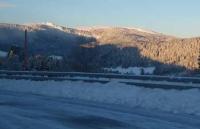 Die ersten Sonnenstrahlen des Tags auf dem Feldberg