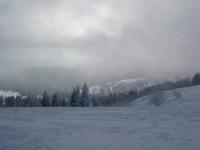 Die Nebelschwaden über dem Feldberg