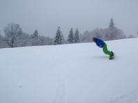 A. am Slalomhang