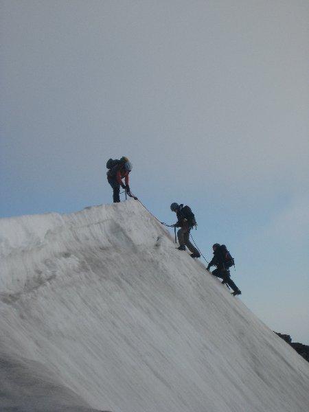 die schnelle 3`er-Gruppe auf dem Gipfel - Respekt!