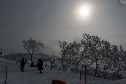 Mt.Yotei im Dunst
