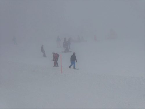 Trotz Nebel wurde es voller