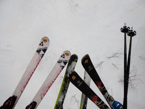 alle auf Ski...
