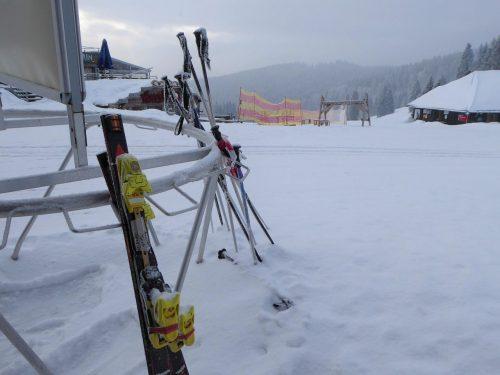 Stock oder Ski vergessen?